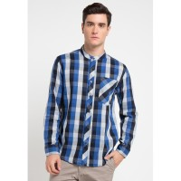 Shirt Man RA Jeans Koko Check Blue Premium