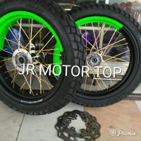 sepaket velg KLX 150 d tracker 150 Supermoto full set super jumbo s