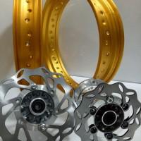 Sepaket Velg Tromol Set Jari2 Klx 150 . Supermoto Dan Dtracker Bonu