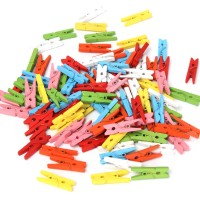 Promo - 100Pcs Mini Wooden Craft Pegs Clothes Peg Paper Photo Hanging