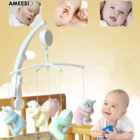 Amee Baby Crib Bed Hanging Bell Wind-up Rotating Music Box Kids Mengem