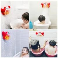 Bubble MakerPlastic Music Crab Bubble Maker Baby Bath Toys
