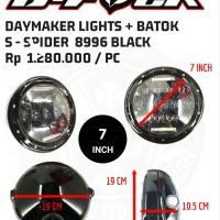 Headlight daymaker S - SPIDER short 7 INCH suku cadang