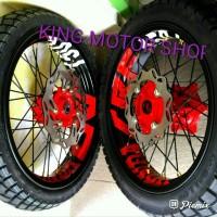 Sepaket Velg supermoto Honda CRF 150 L Full Set Ama Ban
