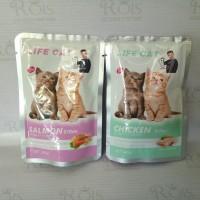 makanan kucing basah life cat kitten sachet