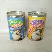 makanan kucing basah C'Cat adult kaleng 400gr