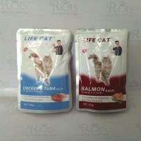 makanan kucing basah life cat adult sachet