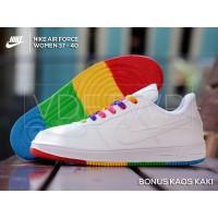 Sepatu Nike Air Force One Women | Sneakers Wanita Full White