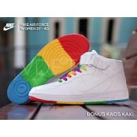 Sepatu Nike Air Force Women High Top Sneakers Wanita