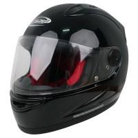Helm Cargloss Racer Horn Helm Full Face - Deep Black
