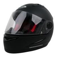 Helm Cargloss Racer Horn Helm Full Face - Black Doff