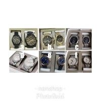 fossil couple gift set watch original with box