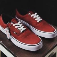 Vans Authentic Merah Sepatu Pria Sneakers Kets Trendy Murah