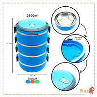 Rantang Stainless Steel Ware 4 Susun - Lunch Box 2800ml LB-04