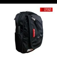 tas handphone selempang dan pinggang with raincover hitam 6 inch