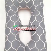 Bantal Hamil Maternity Pillows Motif abu kotak