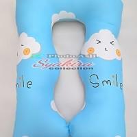 Bantal Hamil Maternity Pillows motif Awan biru