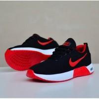 Sepatu sneakers nike zoom running black red white new 212