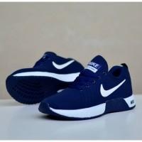 Sepatu sneakers nike zoom running navy white/putih new 212