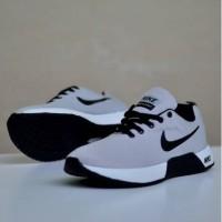 Sepatu sneakers nike zoom running grey black new 212