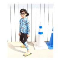 Baju Renang Anak Cowo Boy Shark Tangan Panjang Celana Panjang 17016 BL