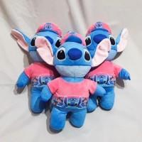 Boneka Stitch Topi Printing Bulu Import