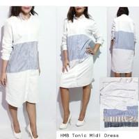 HMB Tonic Striped Midi Dress