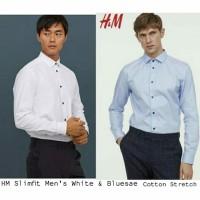 HMB Slimfit White&Bluesae Men Shirts