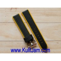Tali Karet Jam Tangan AVANTE ITALY Rubber Extreme Black/Yellow