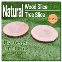 Wood Slice Tree Slice 19-20 Cm dekorasi pernikahan rustic talenan tray