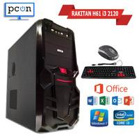 PC RAKITAN WARNET GAMING OFFICE I3 BONUS KEYBOARD MOUSE