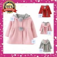 Jaket Kelinci Anak Musim Dingin/Winter Autumn Jacket Coat Bunny Kids - Abu-abu, 8
