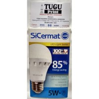 Lampu LED Sicermat 5watt warm