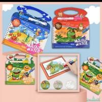 Magic Water Drawing book / Buku Mewarnai Edukasi Anak / Mainan Edukasi