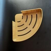 Rak Sudut Kamar Mandi / Rak dinding tempat shampo warna gold