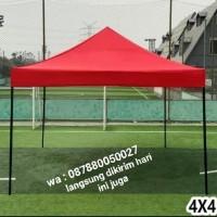 tenda lipat matic size 4x4 besi 1.2m - Merah