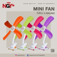 Kipas Angin Jepit NAGOYA (Mini Fan) 4 Baling - NG580J