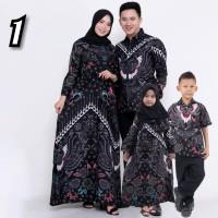 Baju Batik Couple Keluarga Muslim Seragam Batik Dewasa dan Anak 5-10th