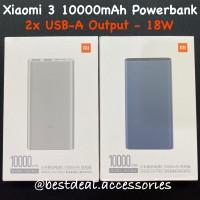 Xiaomi Powerbank 3 10000mAh Fast Charging / Mi 3 Powerbank 18W PLM13ZM