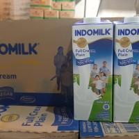 susu UHT Indomilk full cream 1 liter ( satuan )