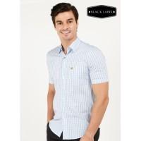 Jack Nicklaus Pottsville Premium Kemeja Pria Slim Fit Putih Biru