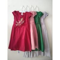 Promo Gaun Anak Perempuan 4 -12 tahun Baju Pesta Dress Princess KA56 - Maroon, 4-5 Thn