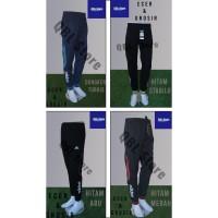 Celana Training Import Joger SweatPants 7/8 Adidas Hitam Abu-Abu