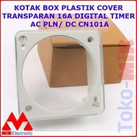 KOTAK BOX PLASTIK COVER TRANSPARAN 16A DIGITAL TIMER AC PLN/ DC CN101A