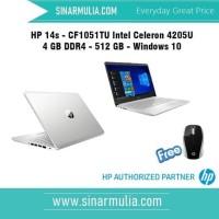 HP 14s - cf1051tu Celeron 4205U - 4GB - 512GB ssd
