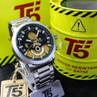 Jam Tangan Cowok T5 H3689 Ori Silver (4.6cm)