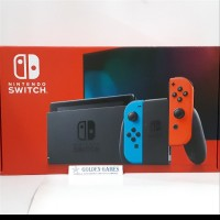 Console New Nintendo Switch Neon Blue Red with Longer Battery Lif