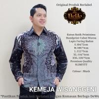 Wisanggeni Black Kemeja Batik Solo Lengan Panjang Full Furing By Dewo