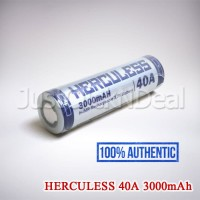 Baterai 18650 Herculess 40A 3000mAh Authentic Vape Vapor Not AWT KDEST