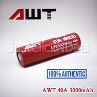 Baterai 18650 AWT 40A 3000mAh Authentic Original Ori Battery